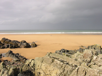 Putsborough Beach - storm approaching