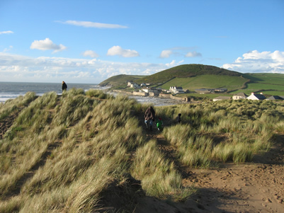 The dunes at Croyde Bay