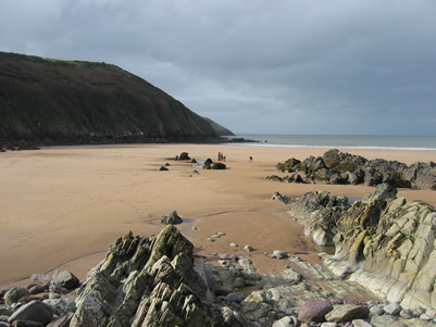 Putsborough Beach at rush hour