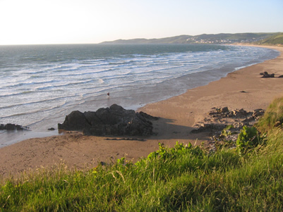 North Devon, Putsborough Beach on a rising tide