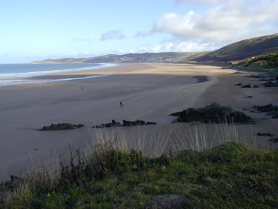 Woolacombe Bay as seen from Putsborough